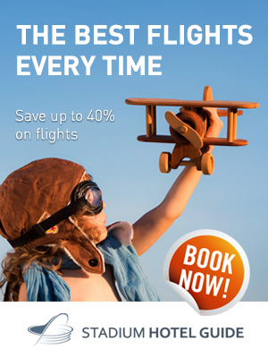 Fly with stadiumhotelguide.com